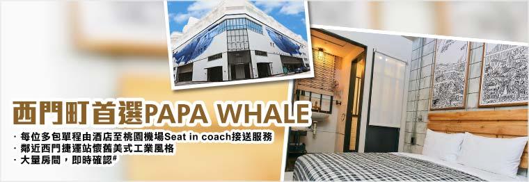 Twn papa whale