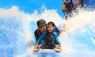 【人造衝浪樂園】曼谷自由行套票4-31天(包1小時衝浪連衝浪板、Locker及英語導師指導及由泰旅局送出的BTS Rabbit Card乙張)