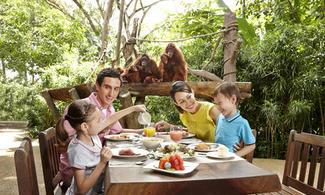【Fun ‧ 紛樂園】無柵欄牢籠全開放式自然環境!近距離觀賞動物│包動物園連野趣早餐│新加坡自由行套票3-31天