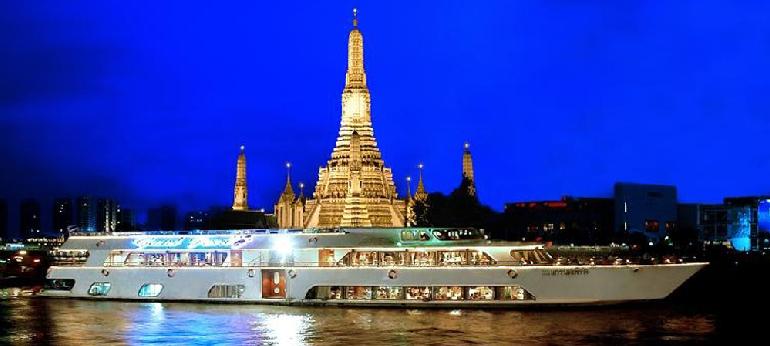 【夜遊湄南河 X 自助晚餐】湄南河上的遊船晚宴Grand Pearl | 曼谷自由行套票3-31天